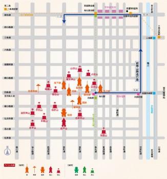 後祭山鉾巡行MAP