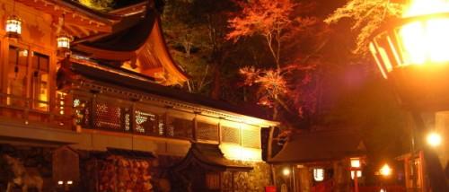 貴船神社のライトアップ