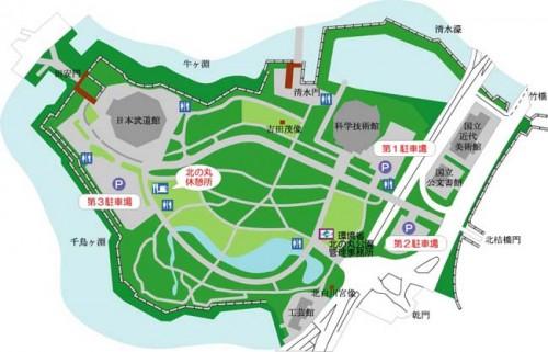 北の丸公園MAP