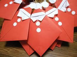 サンタの折り紙