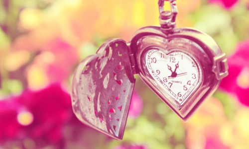 ハート型の懐中時計