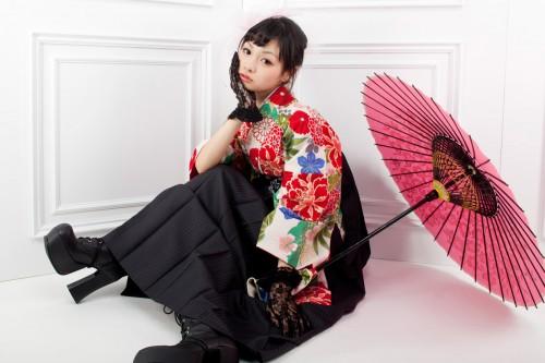 袴とブーツ
