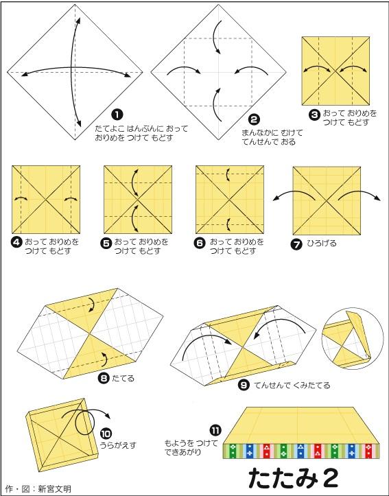 折り紙の 折り紙の織り方 : 折り紙で簡単に出来るひな人形 ...