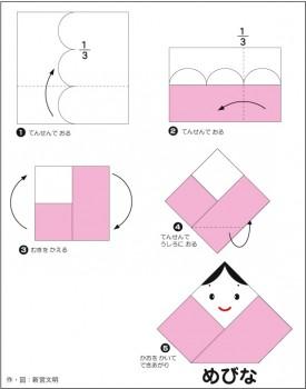 めびなの織り方